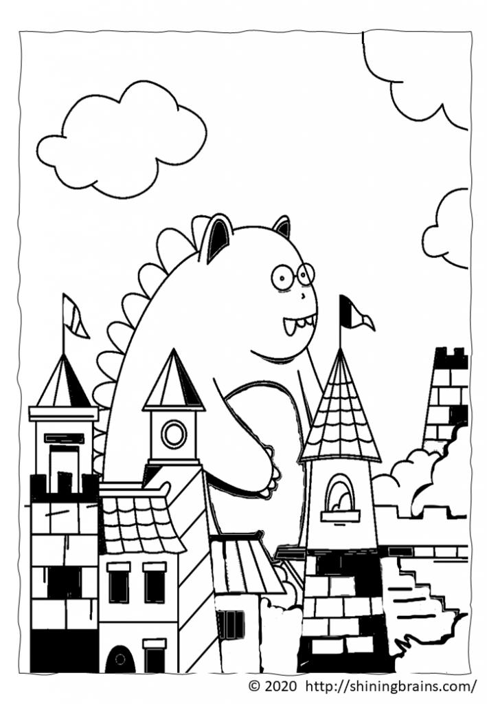 monster colouring page