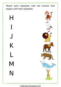 Alphabet worksheets for kids