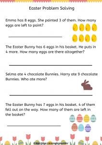 Easter Problem Solving Free worksheet