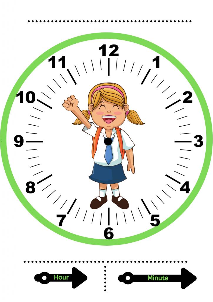 clock template printable   make a clock at home
