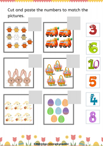 Easter cut and paste worksheet
