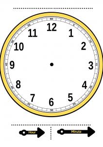 telling time clock template   build a clock worksheet