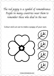 Anzac Day activity for kids   red poppy