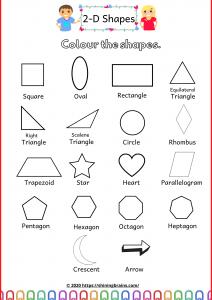names of 2d shapes