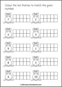 Ten frame worksheets   math ten frames