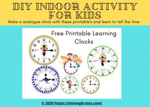 DIY cardboard clock activity