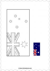 Australian flag colouringworksheet