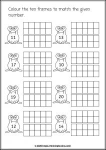 twenty frames worksheets | 1-20 frames