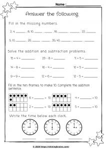 year 2 math worksheet | year 2 mental maths