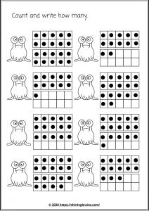 twenty frames worksheets | math frames | ten frames | number bonds