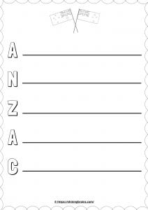 Anzac day day arostic   free worksheet