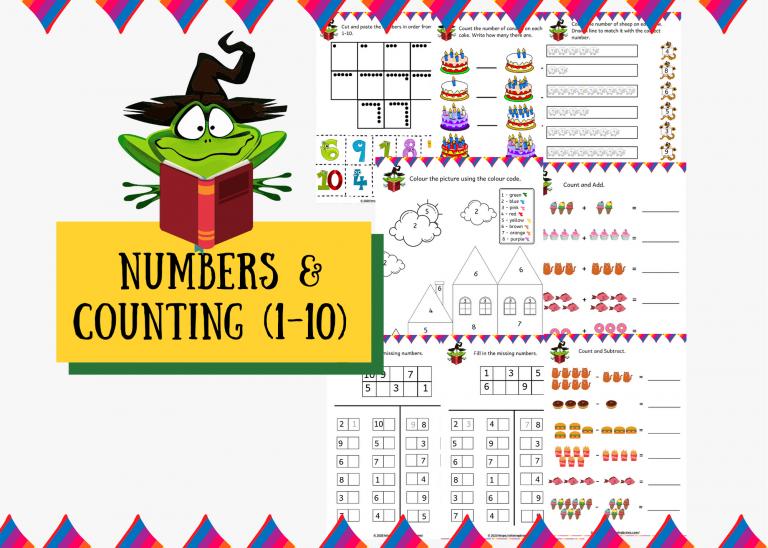 Kindergarten Math Worksheets Pdf Number Worksheets - Counting 1-10