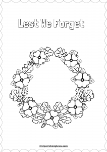 wreath colouring worksheet
