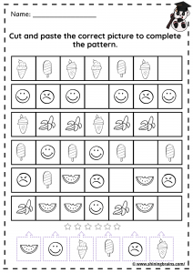 cut and and paste sequence activity | pattern worksheets