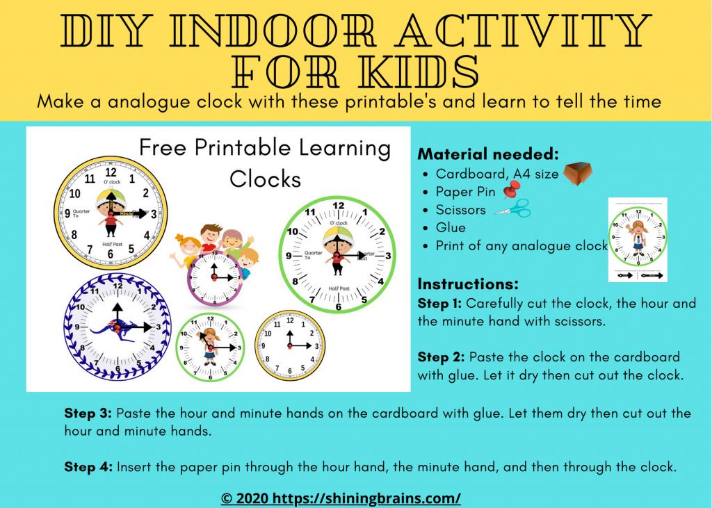DIY Analogue clock   how to make a wall clock with cardboard