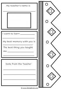 My favourite teacher craft