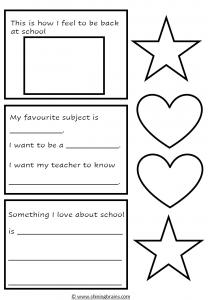 back to school activity, craft