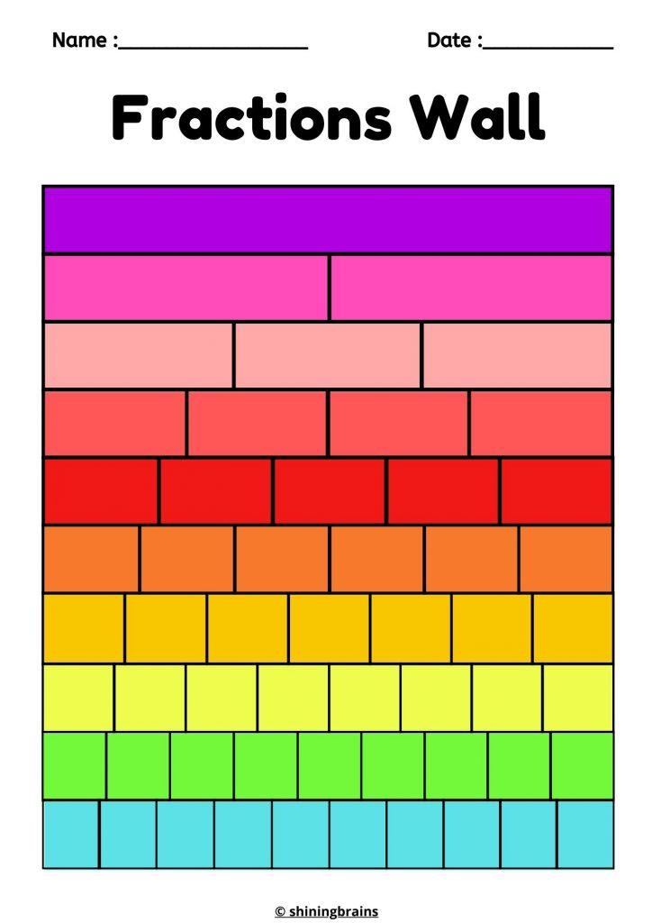 Colourful Fraction Wall Printable