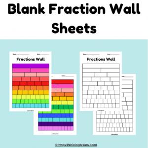 Blank fraction wall sheet templates