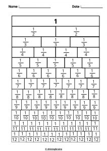 Fractions wall worksheet