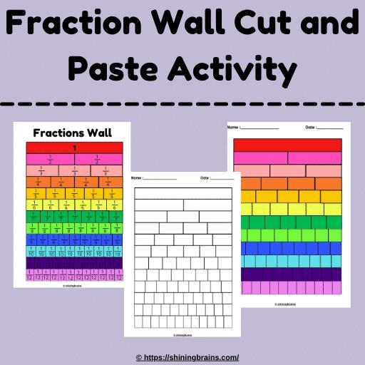 fraction wall worksheet