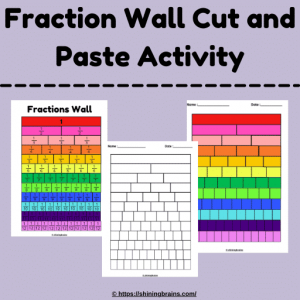 Interactive fraction wall activity