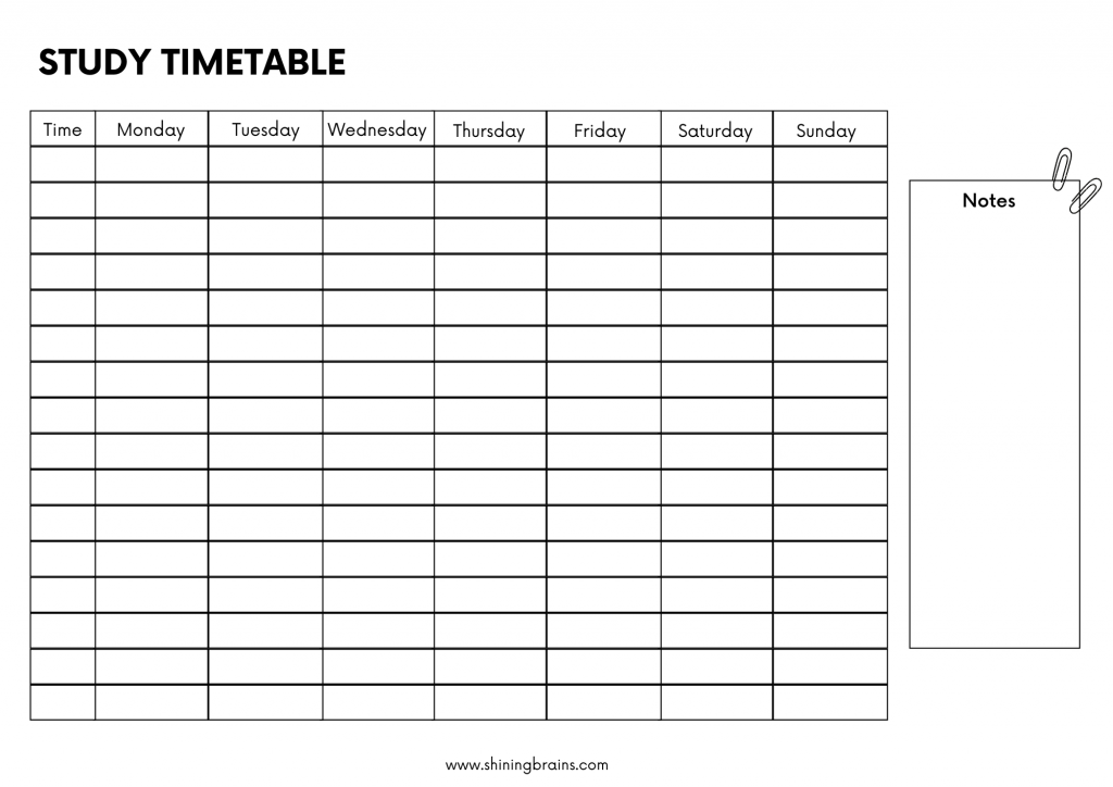 best study timetable for students at home