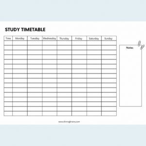 blank timetable - timetable template