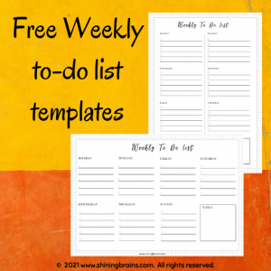 weekly to do list checklist