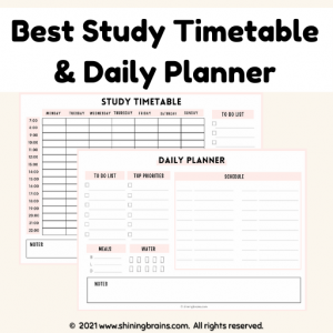 best study timetable and daily planner for students