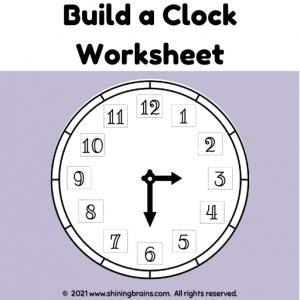 Build a clock | Activity Worksheets