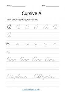 Cursive a