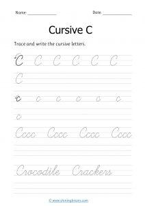 cursive c