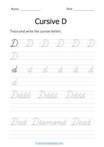 cursive d