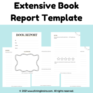 book report template | book review worksheets
