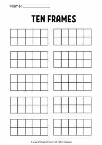 ten frames worksheets and resources   math frames