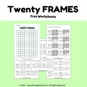 twenty frames worksheets | double 10 frames