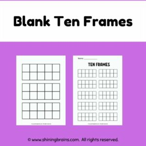 blank ten frames worksheets and resources