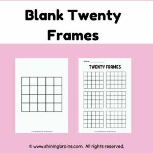 blank frames | ten and twenty frame worksheets