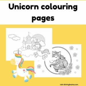 Beautiful colouring pages of unicorns