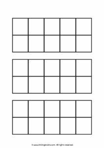 Blank ten frame printable