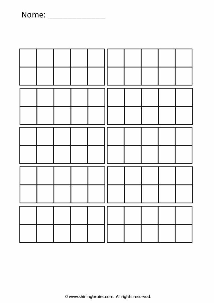 10 ten frames | hundred frames worksheets and printables