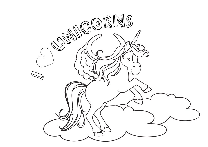 free unicorn colouring pages printables | Unicorn colouring pages