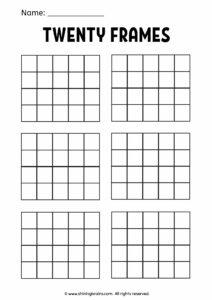 blank twenty frames   double 10 frame   ten frames