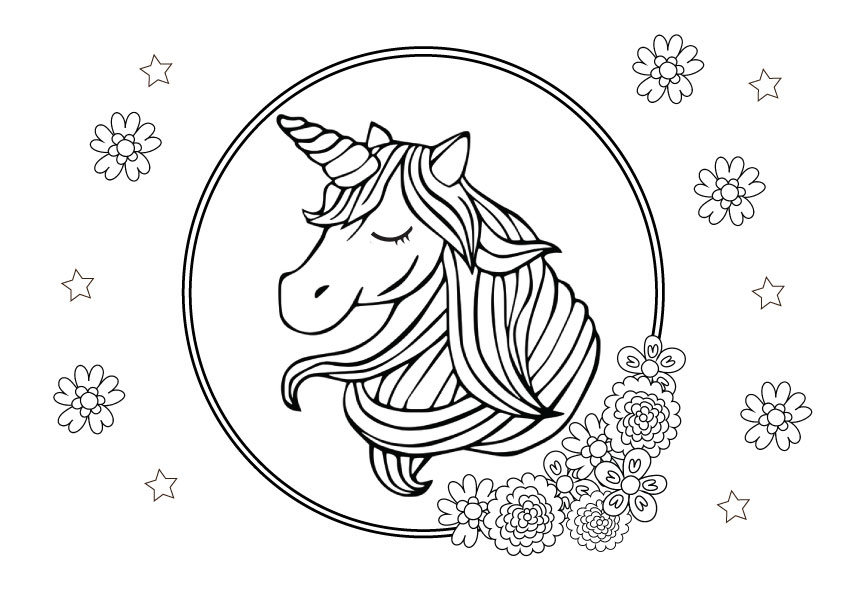 colouring pages of unicorn