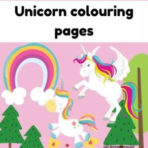 unicorn colouring printable