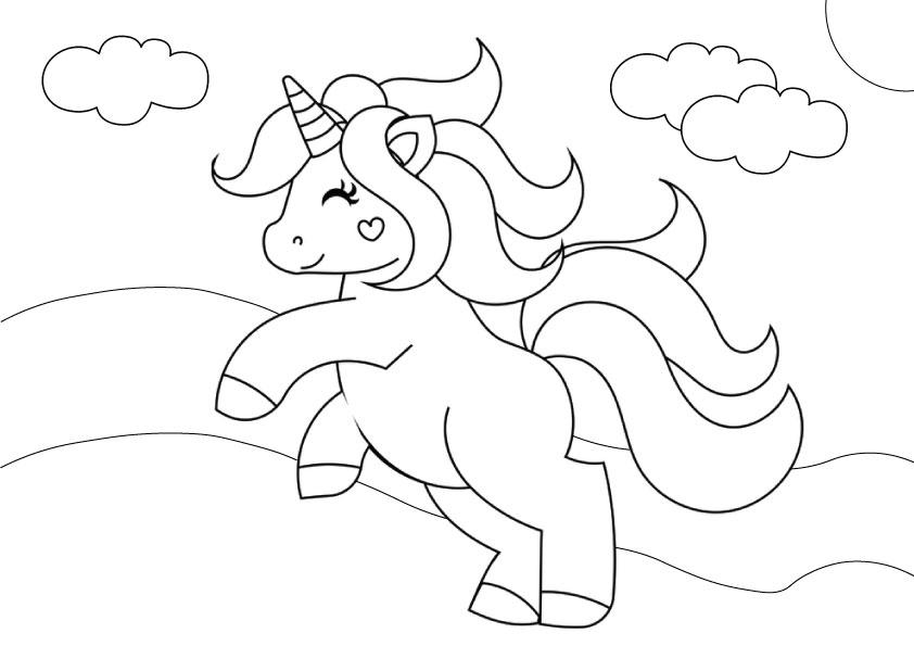 Unicorn coloring sheet | free unicor colouring sheets